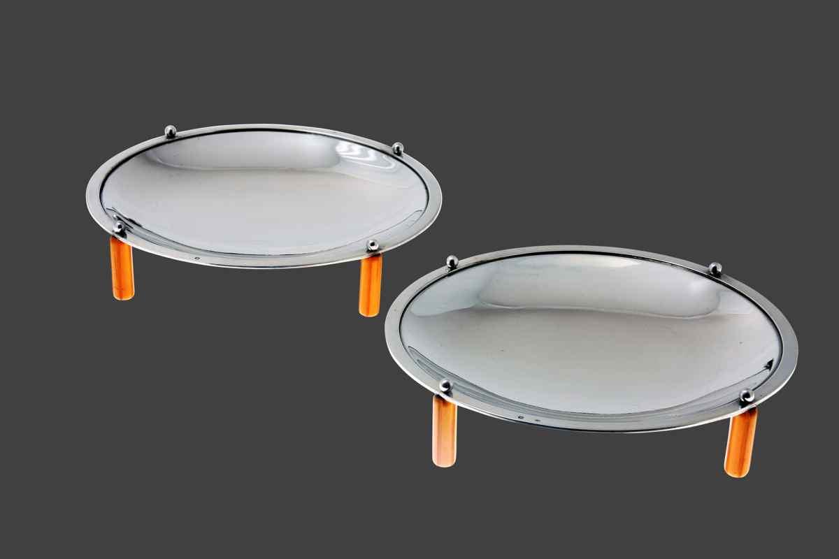 Présentoirs circulaires Puiforcat argent et ivoire